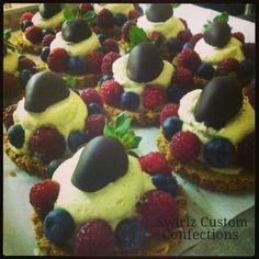 Gluten free berry tarts www.swirlzcustomconfections.com