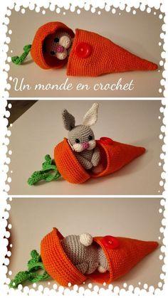 Little rabbit in his carrot pdf in french giraffe crochet amigurumi pattern how to crochet a giraffe crochet pattern toy amigurumi giraffe pdf pattern giraffe in english Easter Crochet, Cute Crochet, Crochet Crafts, Crochet Dolls, Yarn Crafts, Knit Crochet, Crochet Afghans, Crochet Food, Knitted Baby