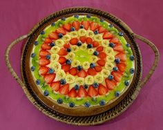 Awesome and fast fruit pizza...must try...with Crescent Rolls :)