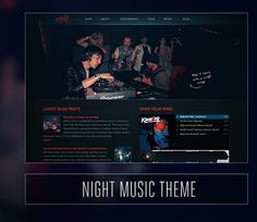Foxhound Wordpress Themes for bands.