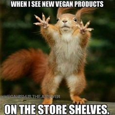 when I see new vegan products in the store shelves More