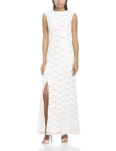 Great long white dress, comfortable, affordable and feminine. Get the look at www.whitepartydressonline.com!