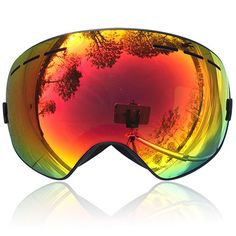 Zionor® 12 Colors Snowmobile Snowboard Skate Ski Goggles with Detachable Lens and Wide Angle Double Lens Anti-fog Big Spherical Professional Unisex(Light Purple Revo Red VLT Snowboard Goggles, Ski Goggles, Ski And Snowboard, Snowboarding, Skiing, Best Skis, Winter Sports, Wide Angle, Light Purple