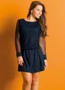 Vestido juvenil preto