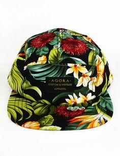 Agora 5 Panel Cap. A cute alternative to a Hawaiian shirt!