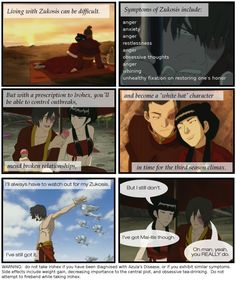 A little strange but still funny. No Cure in Sight for Zuko by ~wrongheaded on deviantART