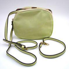 HANDBAG REPUBLIC LIGHT GREEN SMALL HANDBAG ~ CROSSBODY STRAP & SHORTHANDLE ~ NEW #HandbagRepublic #ShoulderBag