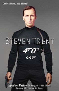 Spectre invitation, James Bond Movie invitation, movie parody invitation, movie…