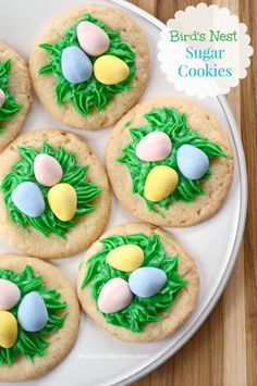 These Bird's Nest Sugar Cookies are simple and sweet way to celebrate spring. Perfect for your Easter baking!