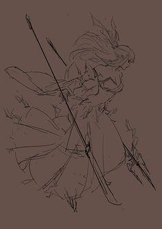 ArtStation - Fire witch , mist XG