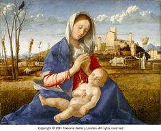 The Madonna del Prato (Madonna of the Meadow) is a 1505 painting of the Virgin Mary and the Christ Child by Giovanni Bellini, now in the National Gallery in London. It presents a medieval iconography of the Virgin. Full of small details of everyday life, this landscape contributes to the intimate and familiar tone of the two figures. The vulture in the tree also possibly symbolises death.