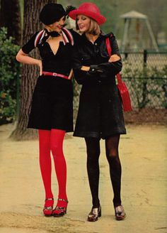 Left Sonia Rykiel outfit Marie Claire, June 1972. Photographed by Alex Chatelain