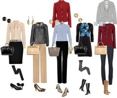 A fashion look from October 2012 featuring h&m dresses, red ruffle top and patterned blouse. Browse and shop related looks. Classic Work Outfits, Cute Work Outfits, Summer Work Outfits, Office Outfits, Girl Outfits, Fashion Outfits, Office Attire, Fashion Ideas, Travel Outfits