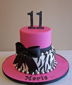Zebra Cake with pink accents Cake Images Pinterest Zebra print