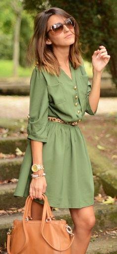 Girly Chic Military Dress