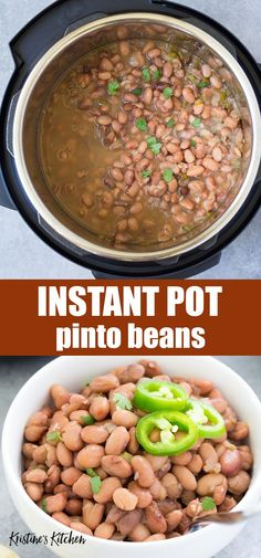 How to make the BEST Instant Pot Pinto Beans, with directions for both no soak beans and presoaked beans. Pressure cooking dry beans is so simple! This easy recipe includes both Mexican seasoned beans and plain unseasoned options. Mexican Food Recipes, Vegetarian Recipes, Healthy Recipes, Vegetarian Pinto Bean Recipe, Mexican Whole Beans Recipe, Pressure Cooker Recipes Vegetarian, Pressure Cooking Recipes, Zoodle Recipes, Fun Easy Recipes