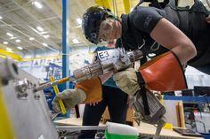 ESA astronaut Samantha Cristoforetti participates in a spacewalk training session at NASA's Johnson Space Center.