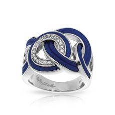 Belle Etoile Blue Italian Rubber Unity ring. $195 Stambaugh Jewelers