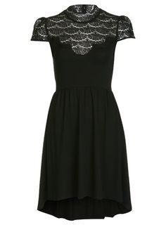 Lace High Neck Dress