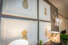 Interiores | Detalhes | Toda a Casa | Interior Design Ideas | Molduras | Frames | Pineapple | Ananás | Gold