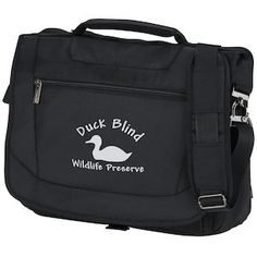 Take all your technology with you in an imprinted messenger bag!