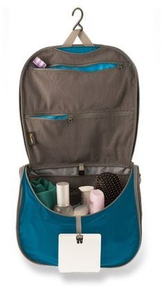 Sea to Summit Travelling Light Hanging Toiletry Bag - small [DEFINITELY! LOVE THIS THING - the hook is key!]
