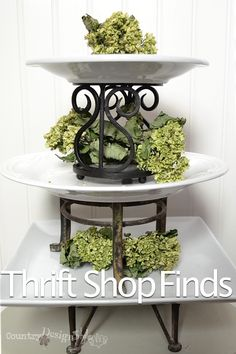 thrift shop finds http://countrydesignstyle.com #thriftshop #decor