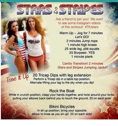 Stars and Stripes workout TIU