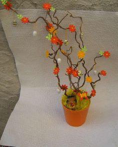 Pasqua, centrotavola fai da te - Albero pasquale arancio
