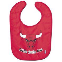 Licensed NBA Basketball Chicago Bulls Full Color Mesh Baby Bib Little Bulls Fan
