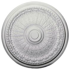 "Ekena Millwork CM27BR 27""OD x 2 1/2""P Brunswick Ceiling Medallion (Fits Canopies up to 4 1/2"")"