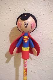 Resultado de imagen de como hacer fofulapiz superheroes moldes
