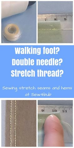 Sewing Stretch Seams and Hems If someone could tell me how to thread my overlocker with it I would be a happy woman.