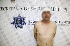 <p>Juárez, Chih.- Agentes de la Policía Municipal realizaron la detención de Roberto P. A., por su presunta responsabilidad en la comisión