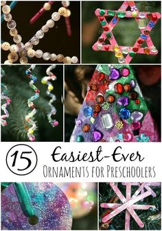 15 Easy gorgeous Christmas Ornaments for Toddlers and Preschoolers - Happy Hooligans