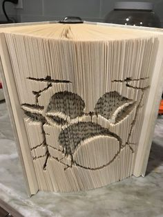Book Fold Pattern Cut and Fold Pattern for 21cm book with at least 440 pages Keep Calm and Geek On Book Art
