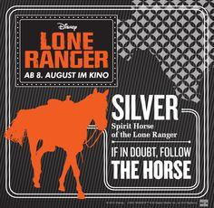 #Silver #LoneRanger © 2012 Disney.  LONE RANGER ™ & © Classic Media