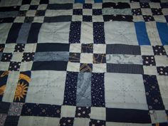 This is the second full size quilt I made. Two By Two, Patches, Blue And White, Quilts, Blanket, Bed, Jelly, Craft Ideas, Sewing