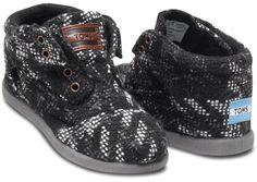 black houndstooth tiny toms botas