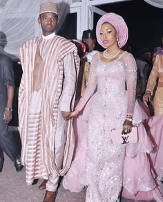 Black Nigerian couple getting married in traditional attire. Nigerian Wedding Dress, African Wedding Attire, Nigerian Bride, Nigerian Weddings, African Attire, African Wear, African Dress, African Weddings, African Men Fashion