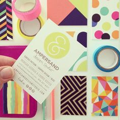 Colourful buisness cards!