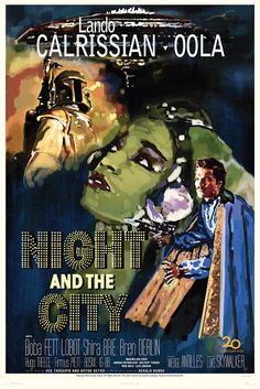 Star Wars Fett Noir Series 1 Night and the City by GraphicLanguage on Etsy, $25.00