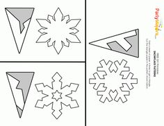 DIY Paper Snowflakes Template – Easy Cut-Out Decorations - - Here is a simple decorating idea for the holidays. Make these paper snowflakes to put on your walls or in your windows. Below are three sample snowflakes to try. I started with an x Paper Snowflakes Easy, Snowflakes For Kids, Paper Snowflake Designs, Paper Snowflake Template, Diy Christmas Snowflakes, Snowflake Cutouts, Simple Snowflake, Snowflake Craft, Christmas Diy