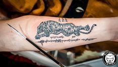 Tiger Thai bamboo tattoo [Sak Yant ink]