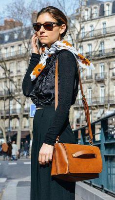 Black with camel details