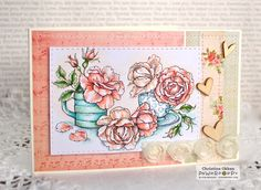 ChristineCreations: Everything's Rosy digital stamp by Power Poppy.