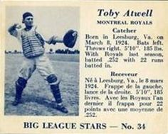 1950 Big League Stars (V362) #34 Toby Atwell Front
