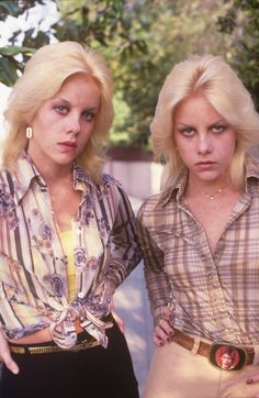 Marie & Cherie Currie - the hair!  The Bowie-belt buckle!  The razor blade earrings!