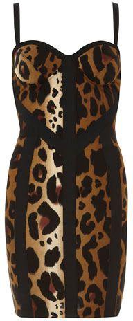 Dorothy Perkins Kardashian leopard dress for Sale