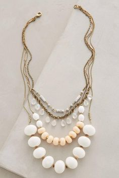 NIP Anthropologie Layered Hemisphere Necklace New #Anthropologie #Bib
